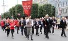 Dziesmu un deju svētku atklāšanas gājiens pulcē Rīgā visus Latvijas novadus (201-300) 44