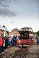 Alūksnē lustīgi svin Bānīša svētkus - vienīgā regulāri kursējošā šaursliežu dzelzceļa vilciena 116.dzimšanas dienu 14